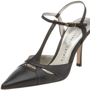 Martinez Valero Madra T-Strap Pump Black - Sz 8